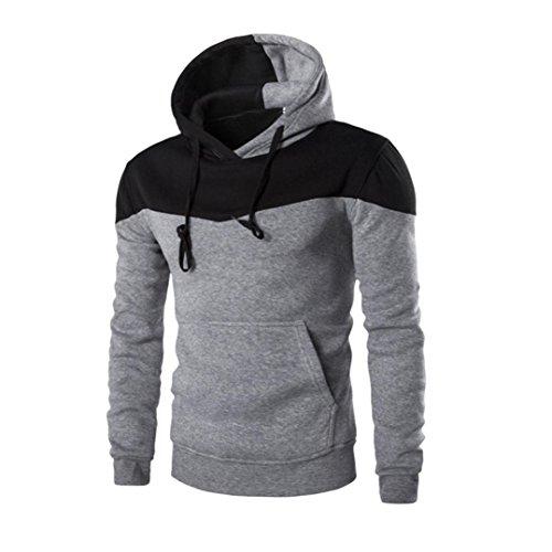 VEMOW Hoodie Herrren, Männer Winter Warm Dünn Nähen Kapuzen Sweatshirt Outwear