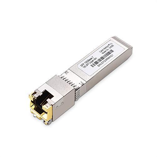Cable Matters 10GBASET 10 Gigabit SFP to RJ45 Copper Ethernet Modular Transceiver for Cisco Dell Ubiquiti TPLink Juniper Huawei Mellanox Mikrotik Netgear and Supermicro Equipment