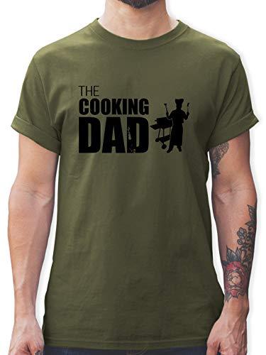 Grill - The Cooking Dad - XL - Army Grün - Cooking dad Shirt - L190 - Tshirt Herren und Männer T-Shirts