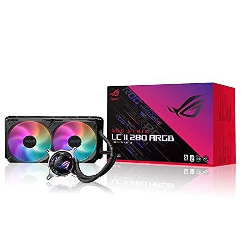 ASUS オールインワン CPUクーラー ROG STRIX LC II 280 ARGB/Aura RGBライティングで鮮やかな色とスマート...