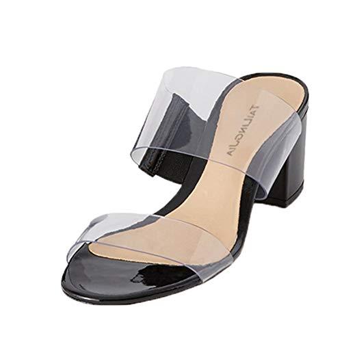 Mujer Transparentes de Tacón Alto Sandalias Verano Simples Casual Zapatillas Moda Tacones...