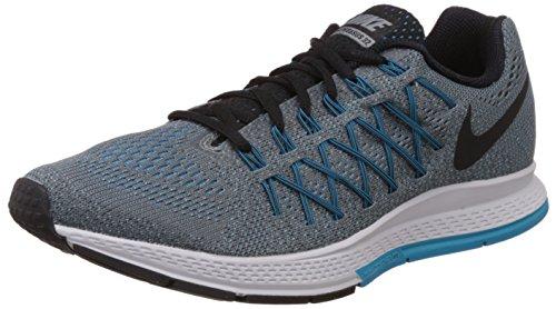 Nike Herren Air Zoom Pegasus 32 Laufschuhe, Grau/Schwarz/Blau (kühles Grau/Schwarz-Blaue Lagune), 47 1/2 EU