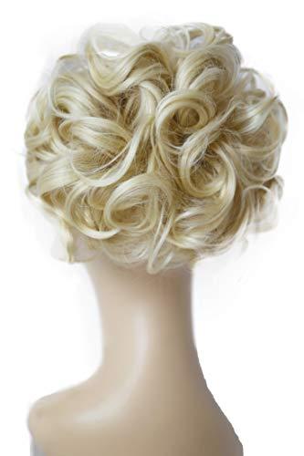 PRETTYSHOP Dutt Haarteil Zopf Haarknoten Hepburn-Dutt Haargummi Hochsteckfrisuren platinblond HK111