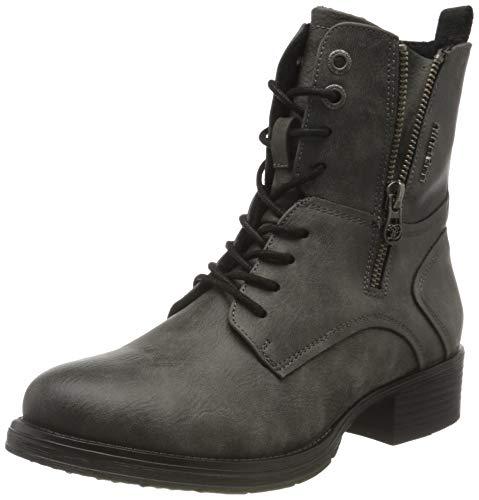 Tom Tailor Womens 9095704 Mid Calf Boot Bootie Boot, Coal, 39 EU