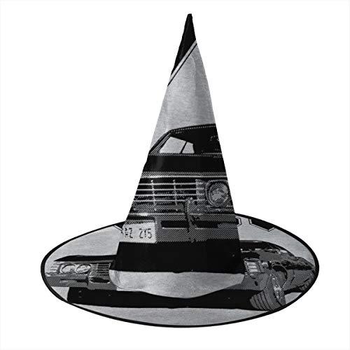 NUJSHF Supernatural ACDC para Aquellos Que Buscan Sombrero de Bruja Halloween Unisex Disfraz para Vacaciones, Halloween, Navidad, Carnaval, Fiesta
