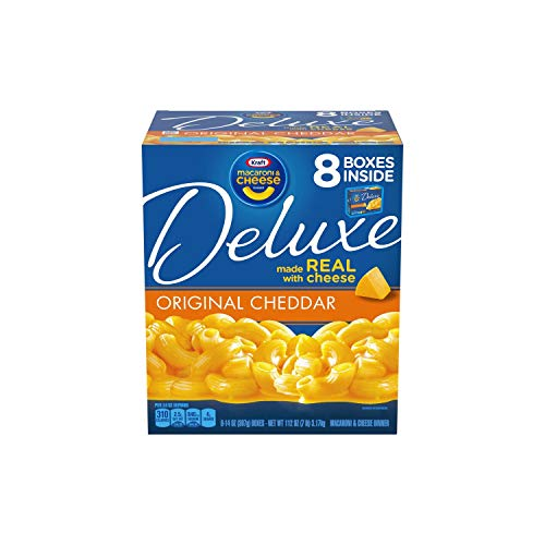 Kraft Deluxe Original Cheddar Macaroni & Cheese Dinner (14 Ounce, 8 Pack)