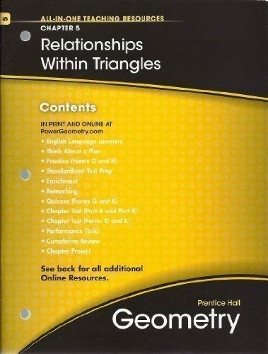 Relationships Within Triangles Chapter 5 Geometry All In One Teaching Resources