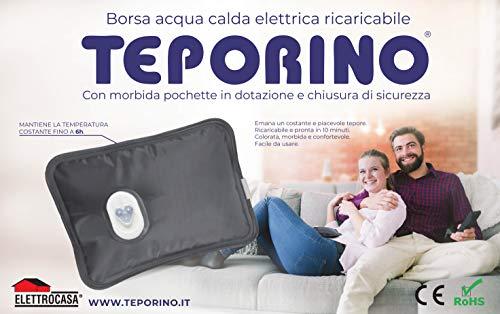 TEPORINO BORSA ACQUA CALDA ELETTRICA RICARICABILE