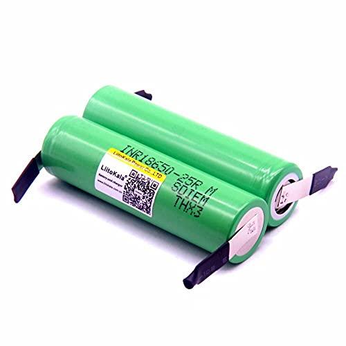 2500 mah batería recarregável 3.6 v inr18650 25r m 20a Descarga 18650 batería + níquel DIY 6pcsbattery