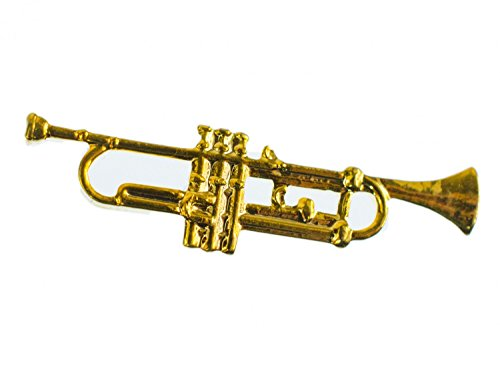 Miniblings Trumpet Brooch Pin Ba...