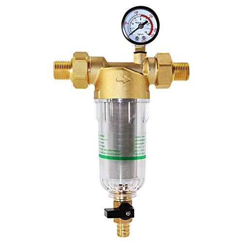 SODIAL Sistema de Prefiltro de Agua 2/5 Pulgadas y 1 Pulgada Purificador...