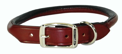 Hamilton Rolled Leather Dog Collar