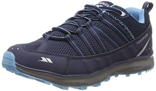 Trespass Triathlon, Chaussures de Randonnée Basses Femme, Bleu (Navy/Pale Blue Npb), 39 EU