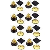 GeeSo 金属 製 金メッキ インシュレーター スパイク 受け インシュレーター 8個 セット 音質 スピーカー オーディオ 向上 改善