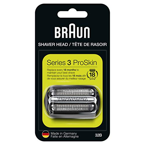 Braun Series 3 32B Foil & Cutter Replacement Head, Compatible with Models 3000s, 3010s, 3040s, 3050cc, 3070cc, 3080s, 3090cc (Packaging May Vary)