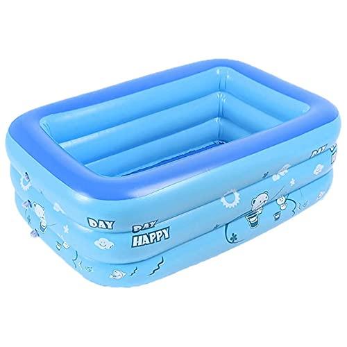 MQC Piscina Inflable para niños,Piscina Azul Espesada de PVC,Adecuada para el Patio Familiar de los niños Adultos jardín al Aire Libre Piscina niños,Azul,120 * 90 * 50cm