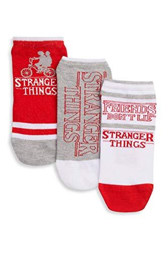 Netflix Stranger Things Damen Socken Schuheinlagen 3 Paar Socken verschiedene Designs Größe 37-42