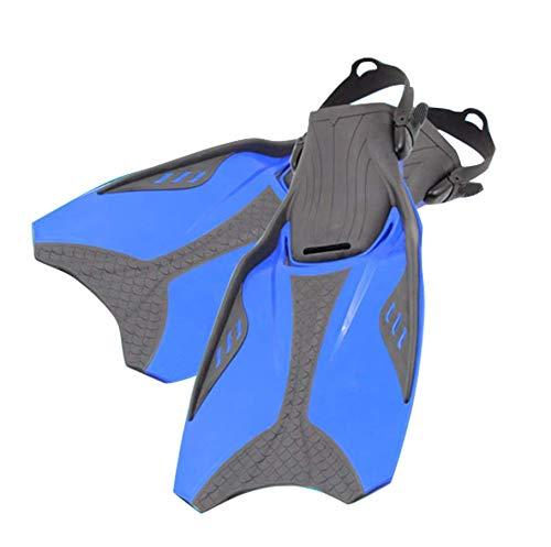 Buceo Aletas largas Sirena Natación, Snorkel Aletas, Snorkel y natación del Recorrido Flipper para los Hombres Adultos Aletas de tacón Abierto Mujeres Niños