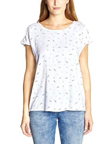 Cecil Damen 341539 Bluse, White, X-Large (Herstellergröße:XL)