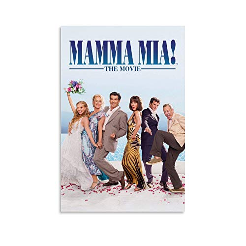 Mama Mia Movie Poster Canvas Art Poster and Wall Art Picture Print Modern Family Bedroom Decor Posters 16x24inch(40x60cm)