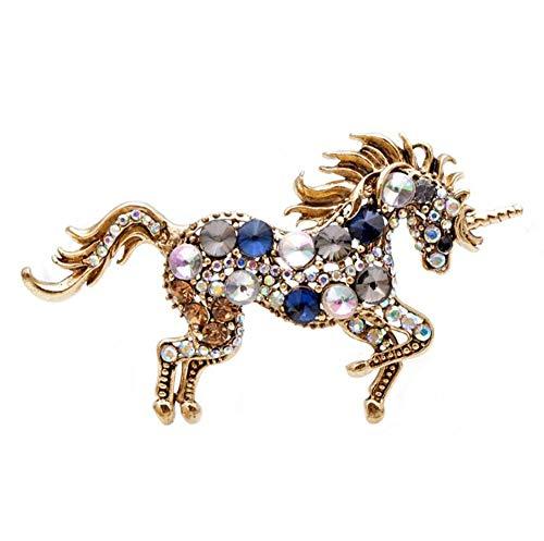 Diozet Broches,Broches de Caballo de Diamantes de imitación, 7 Colores para Mujeres...