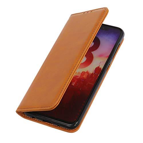 GOGME Hülle für Samsung Galaxy A32 5G Brieftasche, mit [Kartenfächern] [Kickstand] [Magnetische Funktion] Folio Handyhülle PU Leder Schutzhülle, Samsung Galaxy A32 5G Flip Hülle, Braun