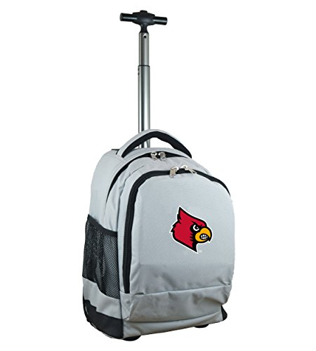 Denco NCAA Louisville Cardinals Wheeled Backpack, 19-inches, Grey