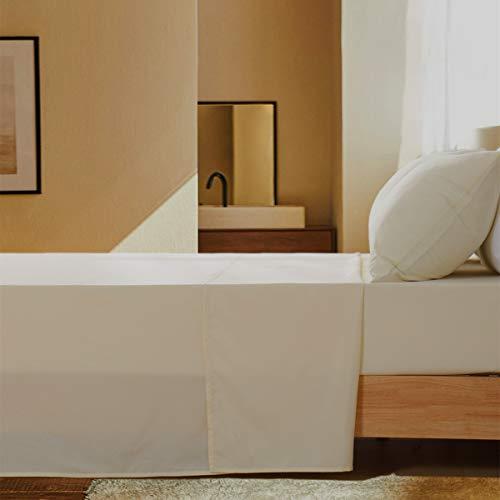 Aisbo - Juego de sábanas con Funda de Almohada, Cama Individual, 50 x 80 cm, Crema