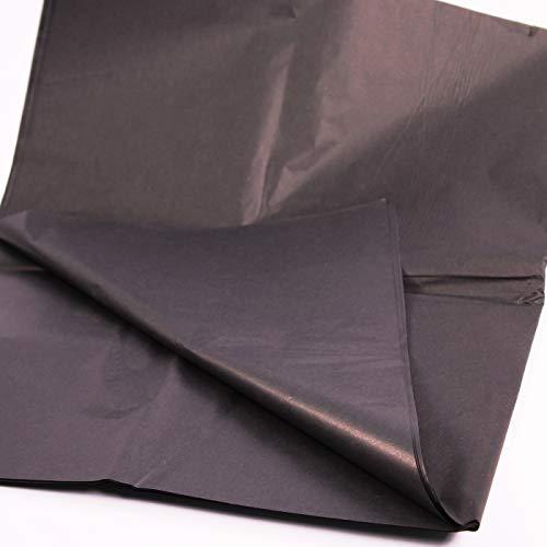 25 hojas de papel de seda negro, papel de seda sin ácidos, papel de seda artístico, papel de regalo para decoraciones, papel de seda