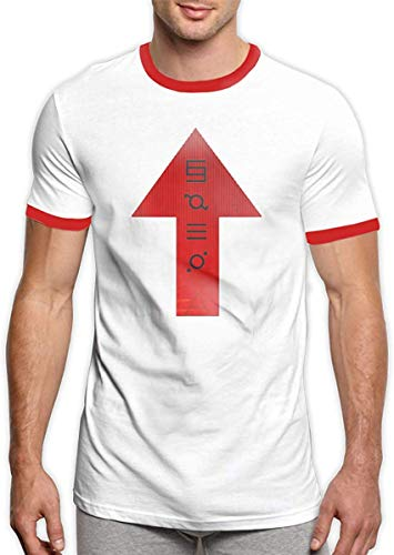 30 Seconds to Mars T-Shirts Men's Comfortable Short Sleeve Ringers Tee Shirt Black,Red,X-Large