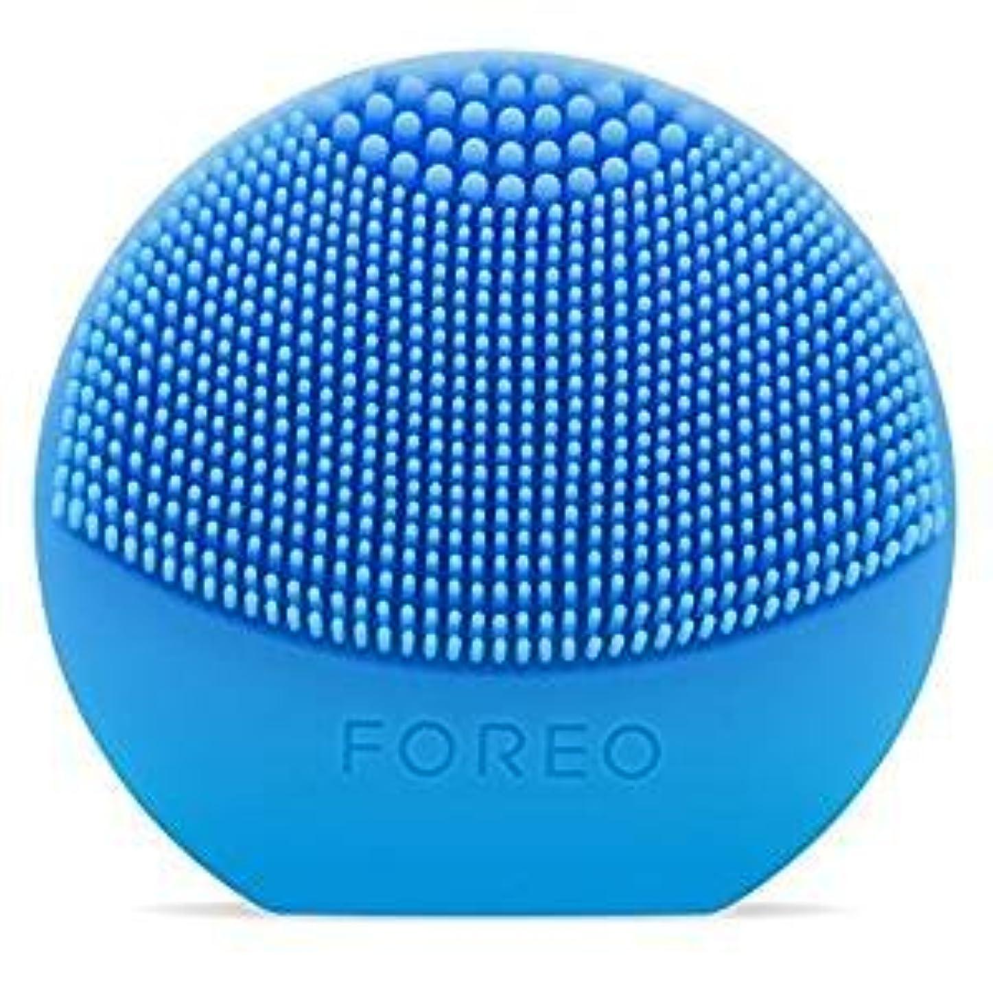 まろやかな甘味フォーラムFOREO LUNA Play Plus アクアマリン シリコーン製 音波振動 電動洗顔ブラシ 電池式