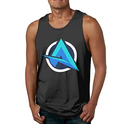 Ali-A Men Tank Top Sleeveless Tees Sports T Shirt Outdoor(L,Black)