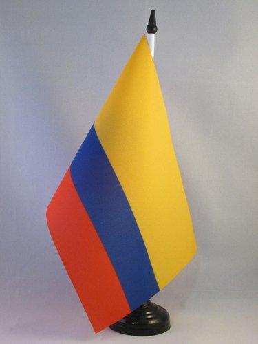 AZ FLAG Drapeau de Table Colombie 21x14cm - Petit Drapeaux DE Bureau colombien 14 x 21 cm