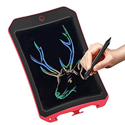 Spring& Writing Tablet for Birthday Gift,Kids Toy 8.5 In Colorful LCD Writing Tablet Electronic Writings Pads Drawing Board Gifts for Kids Office Blackboard-Erase Button Lock Included ?Red? by Spring&