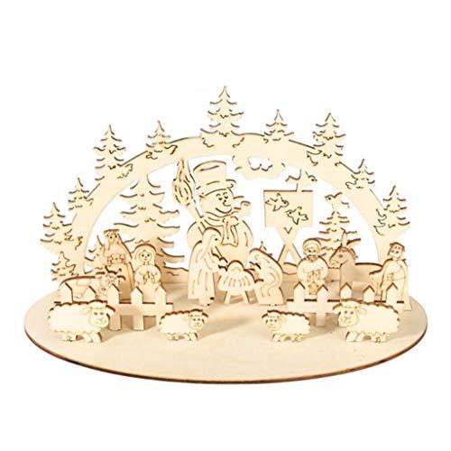 YU-NIYUT Ornamentos de madeira para o boneco de neve de Natal faça você mesmo, festa de Natal, árvore de Natal, Ano Novo, decoração de mesa de igreja, decoração de mesa, artigos de decoração festivos requintados e bonitos