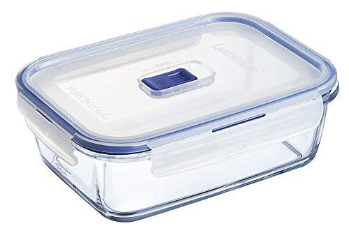 Luminarc Pure Box Active - Boîte de Conservation hermétique en verre, rectangulaire, 1,22 L