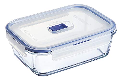 Luminarc 9207678 Pure Box Active - Recipiente Hermetico Rectangular, Vidrio, 1.97 L, 22 x 16 x 7cm