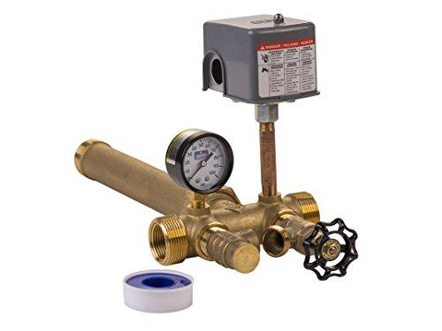 Plumb eeze Pressure Tank Installation Kit with 1' Brass Union tank tee...