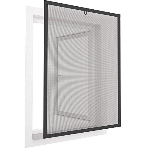 easy life Pollenschutz Alu Fenster ALLERGICpro 100 x 120 cm in Anthrazit Insektenschutz Fenster easyLINE Pollenschutzgitter und Fliegengitter