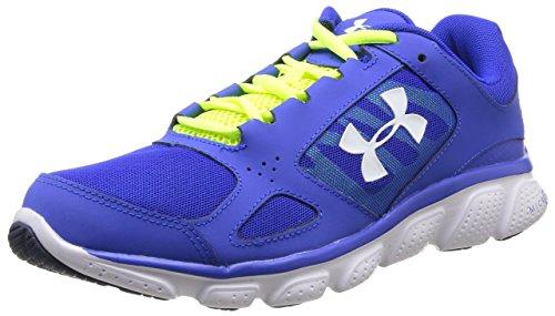 Under Armour UA MICRO G ASSERT V - zapatillas de running de material sintético hombre, Color Azul Team Royal/High/Vis amarillo/blanco 400, Talla 425