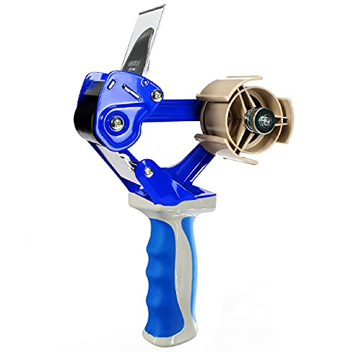 Elepa Packing Tape Gun-Safty Retractable Blade, Silicone Handle, Heavy Duty Sealing Cutter, Tape Dispenser Gun Suitable for 2 Inch Wide Roll of Tape