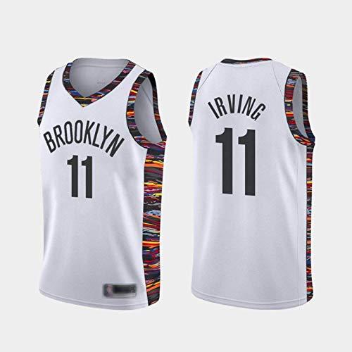 HUANGB Fans Jersey Basketball All-Star NBA Brooklyn Nets 11 Kyrie Irving Jerseys Clásicos Cómodas Camisetas Deportivas De Malla Transpirable,White-XL