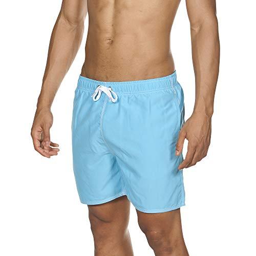 ARENA Herren Badeshorts Fundamentals Solid Boxer, sea Blue-White, M