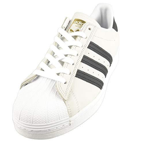 Adidas Superstar ADV, Sneaker Hombre, White/Black/Gold Metallic, 47 1/3 EU