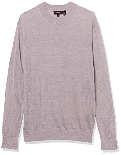 Theory Women's Long Sleeve Crew Neck Sweater, Lavender, M