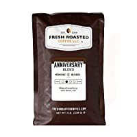 Fresh Roasted Coffee LLC, Anniversary Artisan Blend Coffee, Medium Roast, Whole Bean, 5 Pound Bag