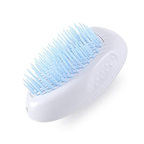 N\ A Cat and Dog Grooming Brush, Dog Brush and Cat Brush Polisher Brush Deshedding Tool, Self Cleaning Polisher Dog Blue