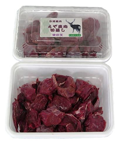 鹿肉 切り落とし1kgブツ切り肉 北海道特産 えぞ しか肉 ブツ切り肉 無添加 ジビエ 冷凍 エゾシカ肉