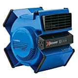 Lasko High Velocity X-Blower Utility Fan for Cooling, Ventilating, Exhausting and Drying at Home, Job Site and Work Shop, Blue X12905