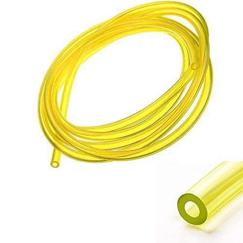 cyclingcolors Tubo de Combustible 2.5mm x 5mm x 1m Amarillo Transparente Manguera Gasolina Cortacéspedes DESBRAOZADORA MOTOCULTOR Motosierra